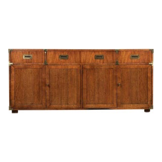 Vintage Henredon Campaign Sideboard For Sale
