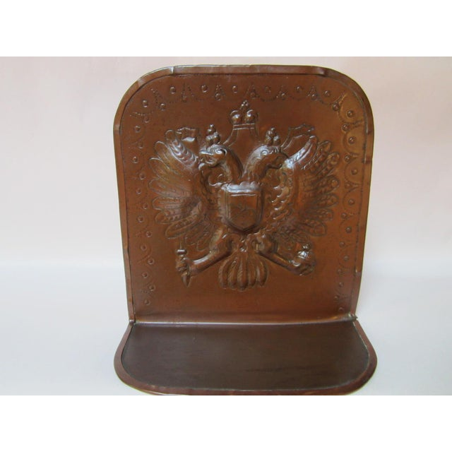 Mission Arts & Crafts Copper Bookends - A Pair For Sale - Image 3 of 9