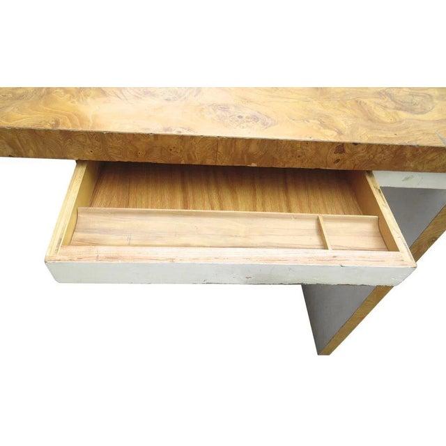 Thayer Coggin Burl Walnut Desk by Milo Baughman for Thayer Coggin For Sale - Image 4 of 9