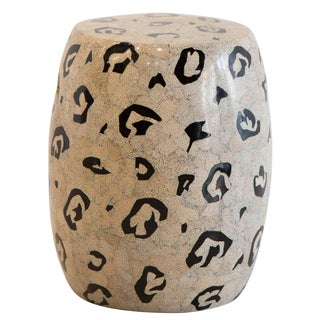 Abstract Pattern Garden Stool by Maitland Smith For Sale