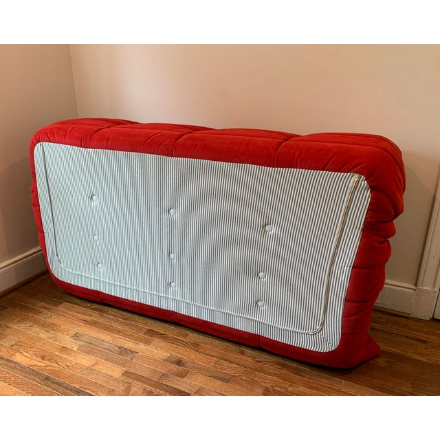 Ligne Roset Ligne Roset Alcantara Goya Red Togo Sofa For Sale - Image 4 of 6