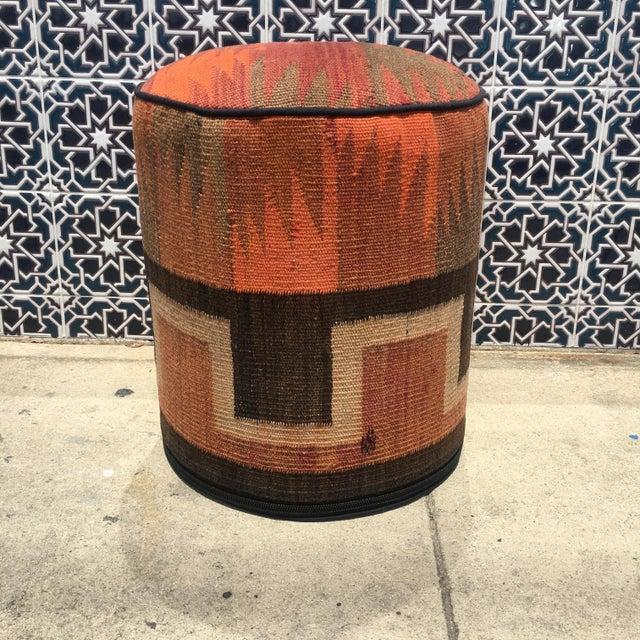 Vintage Kilim Fabric Stool - Image 2 of 5