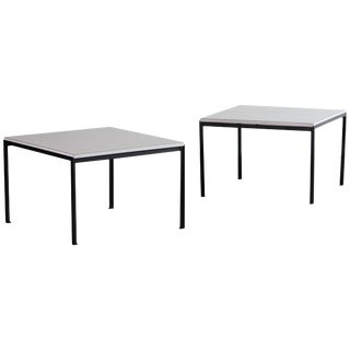 1960s Florence Knoll T-Angel Side Tables - a Pair