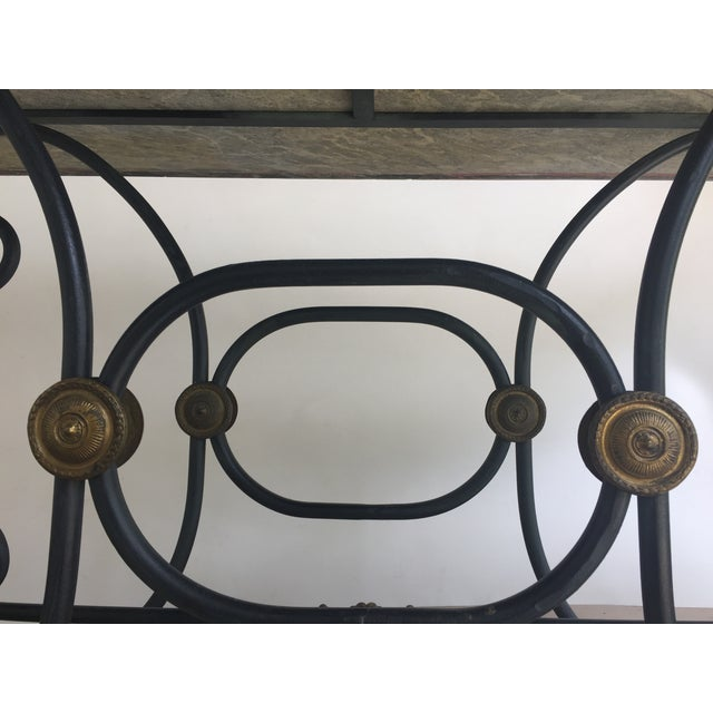 French Iron Marble Topped Table - Image 6 of 9