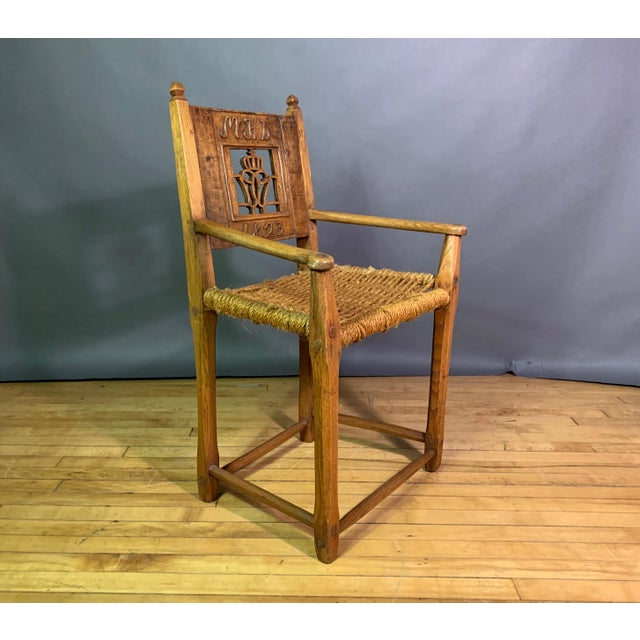 """A rare and exquisite armchair from early 19th century Denmark, considered the Golden Age"""" of Danish intellectual history...."""