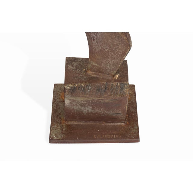 Vintage Mid-Century Brutalist Metal Sculpture by Peter Calaboyias For Sale - Image 11 of 13