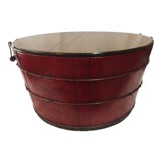 Antique Barrel Storage Box For Sale