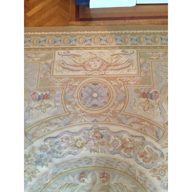 Aubusson French Wool Rug - 9′9″ × 14′2″ - Image 7 of 11