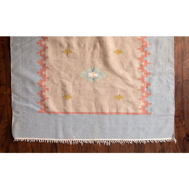 Vintage Mid-Century Navajo Inspired Pastel Rug - 3′8″ × 5′11″ For Sale - Image 4 of 11
