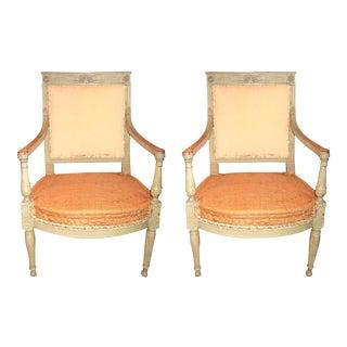 Pair of Directoire Fauteuils