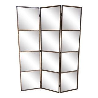 Uttermost Avidan Three Panel Mirrored Divider For Sale
