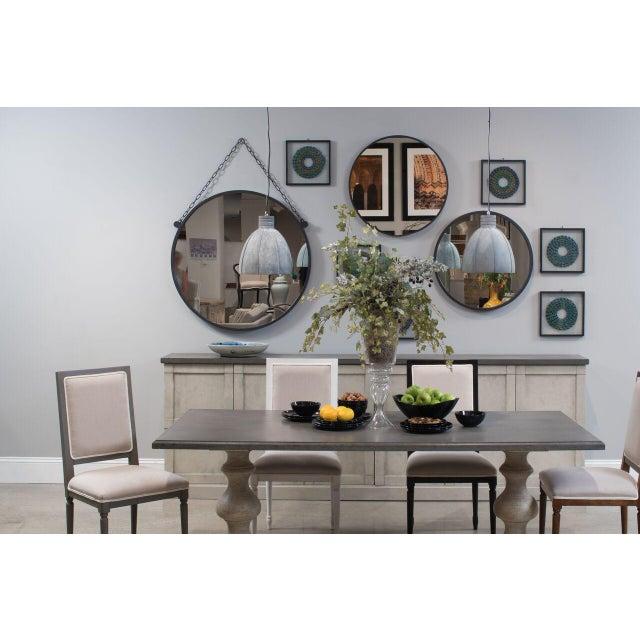Contemporary Sarreid Ltd Metal Hanging Mirror For Sale - Image 3 of 4