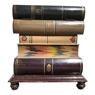 Stacked Book Accent Table For Sale