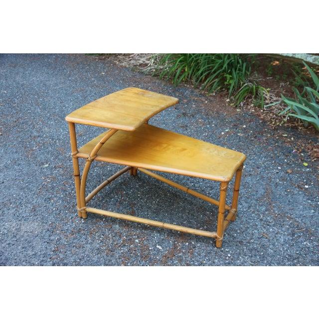 1950s Vintage Mid-Century Modern Heywood-Wakefield Side Table For Sale - Image 9 of 9