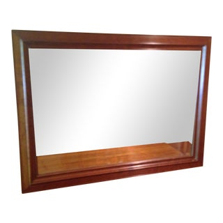 Stickley Cherry Beveled Wall Mirror For Sale