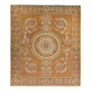 19th Century French Aubusson Rug For Sale