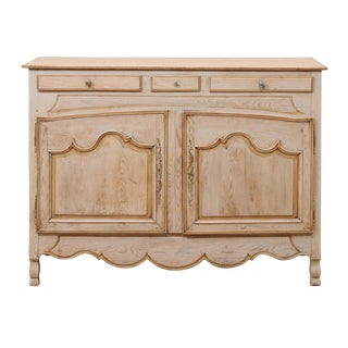French Early 19th Century Carved and Painted Wood Buffet With Scalloped Skirt For Sale