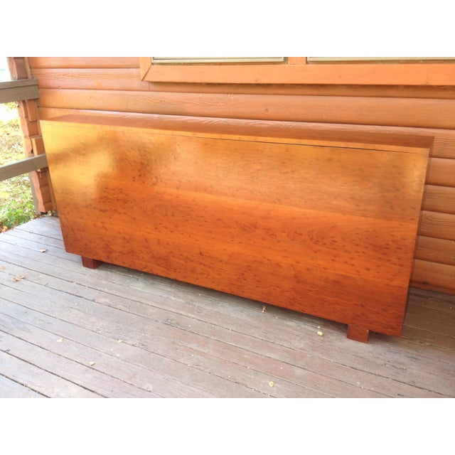 Architect's Pickle Mahogany Instrument Chest for King Headboard For Sale - Image 13 of 13