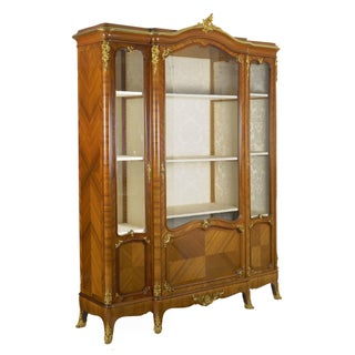 French Louis XV Style Antique Bookcase Cabinet Bookshelf by Schmit & Cie C. 1890-1910 Preview