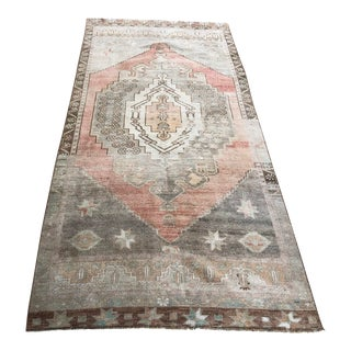 1960s Turkish Small Decorative Wool Rug For Sale