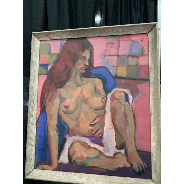 Figurative 1970s Vintage Nude Painting by Nunes For Sale - Image 3 of 6