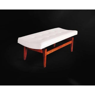 1950s Mid-Century Modern Jens Risom Floating Bench in Leather Preview