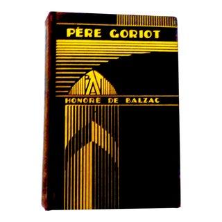 Art Deco Book, Pere Goriot by Balzac For Sale