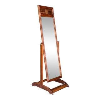 Mid-Century Modern Walnut Cheval Mirror For Sale