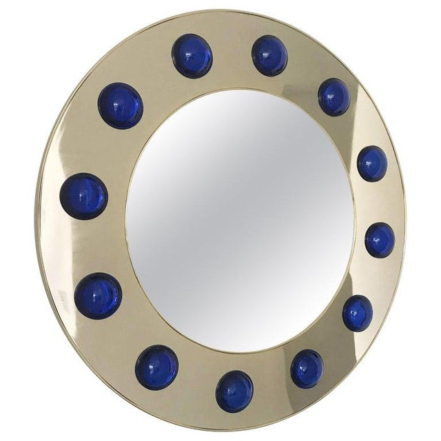 Metal Fabio Ltd Marina Round Mirror For Sale - Image 7 of 8