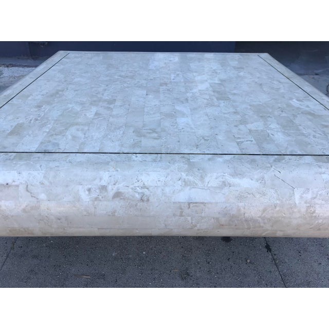 Metal 1980s Art Deco Maitland-Smith Tesselated Stone Coffee Table For Sale - Image 7 of 10