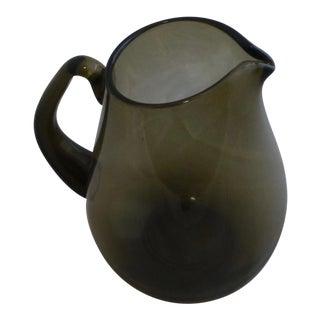 Mid Century Scandinavian Glass Water Pitcher
