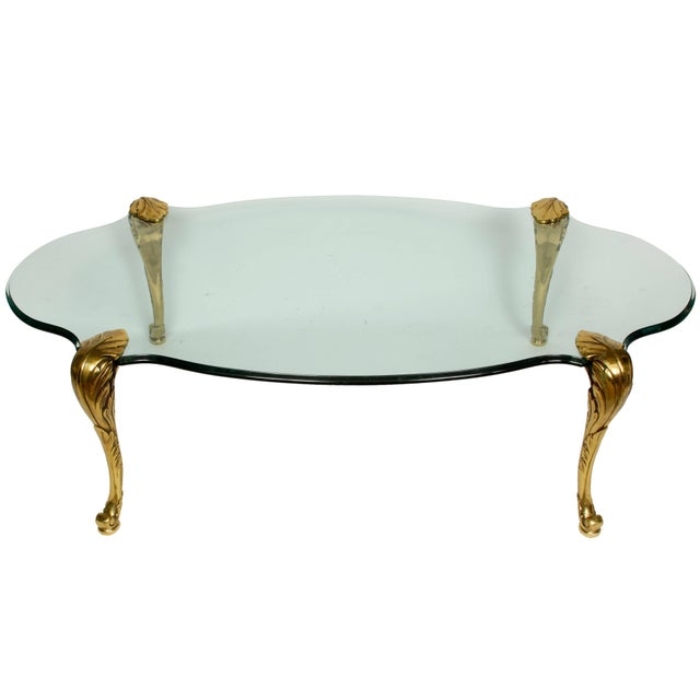 Mid 20th Century French Cocktail Table with Palm Tree Legs For Sale - Image 5 of 5