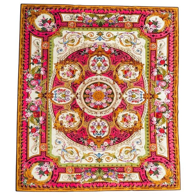 1920's Antique English Chenille Rug 12 by 15 For Sale - Image 10 of 10
