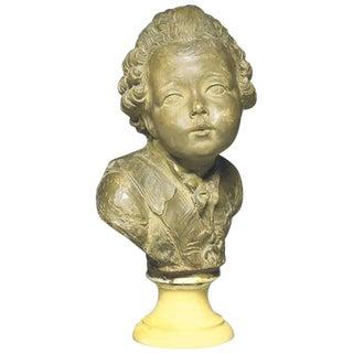 20th Century Louis XVI Terra Cotta Bust of Comte D'artois, by Fernand Cian For Sale