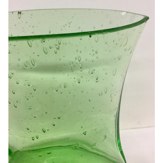 Very nice green bubbles makes this Vase very special. We love the shape and curves. Perfect size for displaying flowers or...