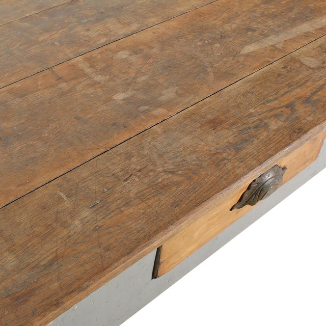 Gray Early 20th Century American Farm Table For Sale - Image 8 of 11