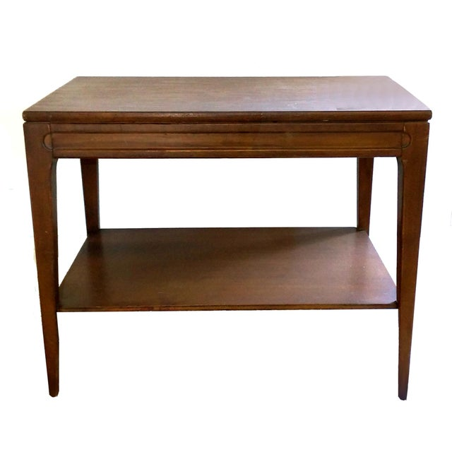 Mid Century Rose Wood Side Table Or Small Coffee Table For: Mid-Century Mersman Walnut Coffee Table