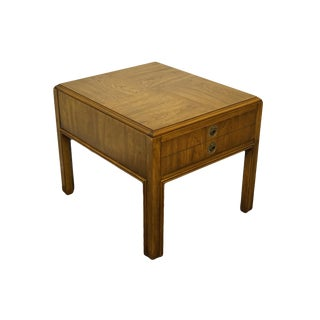 "Drexel Heritage Accolade II Collection Campaign Style 23x27"" Accent End Table - 984-322 For Sale"