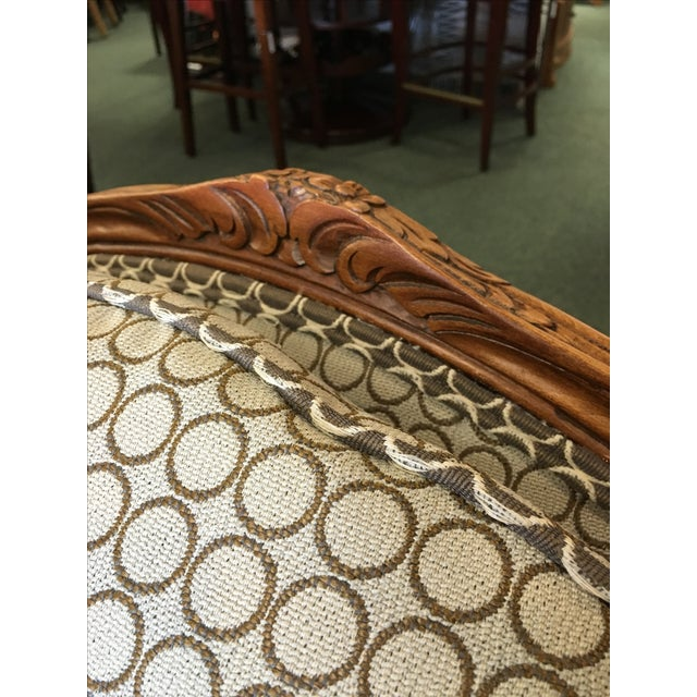 French Country Baker Upholstered Chair & Ottoman - Image 5 of 10