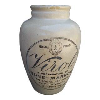 Large Victorian Bone Marrow For Invalids Jar For Sale