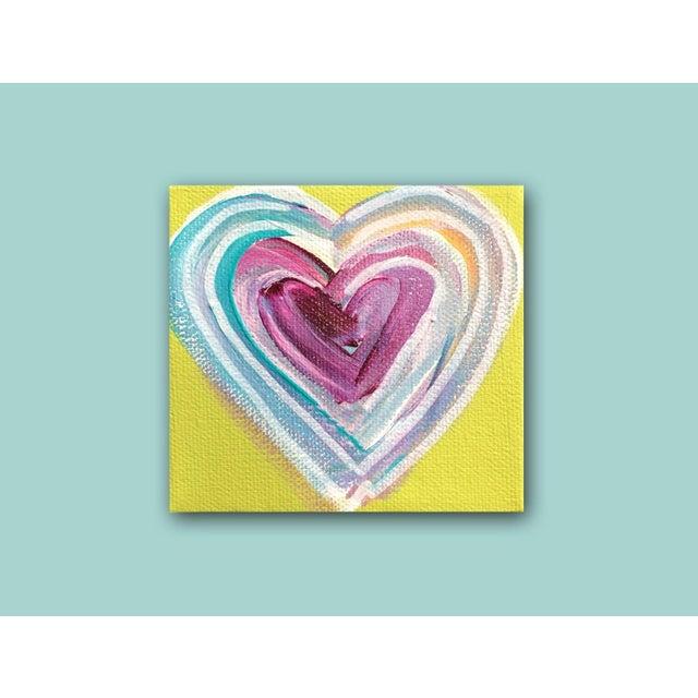 'Tropical Heart' Original Painting by Linnea Heide - Image 4 of 4