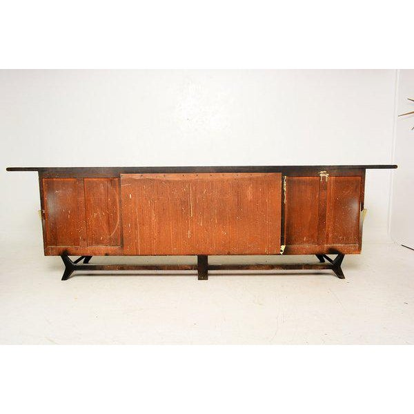 Mexican Modernist Long Credenza with Pepe Mendoza Hardware - Image 6 of 6