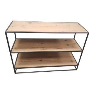 "Industrial West Elm 48"" Low Bookshelf For Sale"