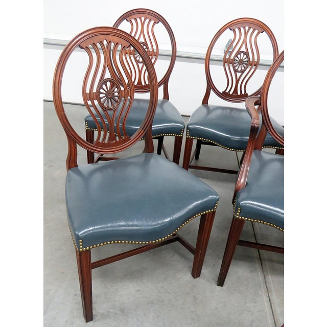Set of 8 Georgian Style Dining Room Chairs For Sale In Philadelphia - Image 6 of 12