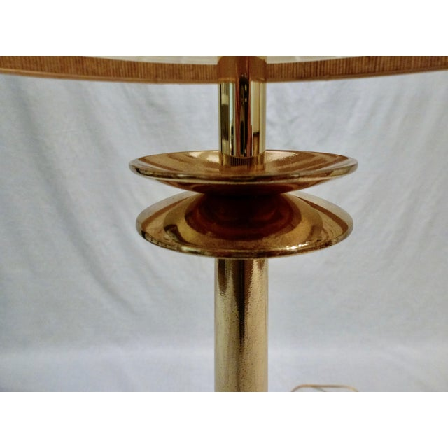 Mid-Century Modern Mid-Century Modern Tommi Parzinger Brass Candlestick Lamps - a Pair For Sale - Image 3 of 10