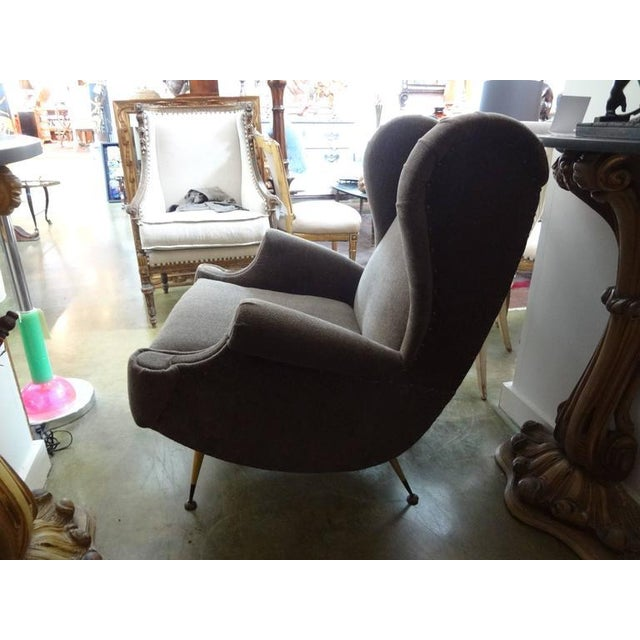 Circa 1960 Mid-Century Italian Gio Ponti Inspired Lounge Chairs - A Pair For Sale - Image 5 of 9