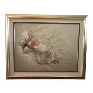 Signed Marilyn Monroe Oil Painting