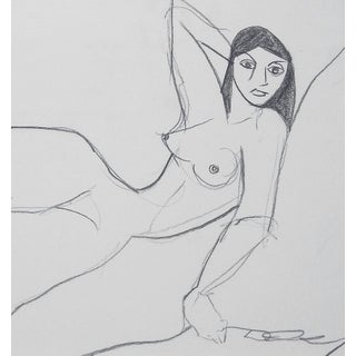 Female Nude Charcoal Drawing Preview