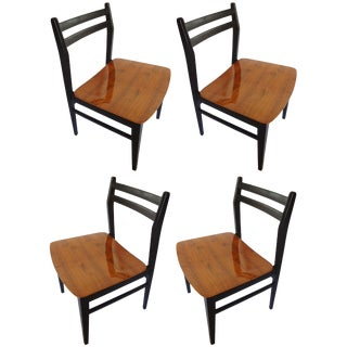 1970s Vintage Danish Modern Dining Chairs - Set of 4 For Sale