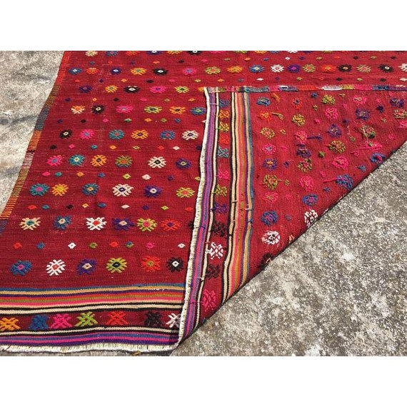Vintage Turkish Kilim Rug - 6′ × 7′11″ For Sale In Raleigh - Image 6 of 6